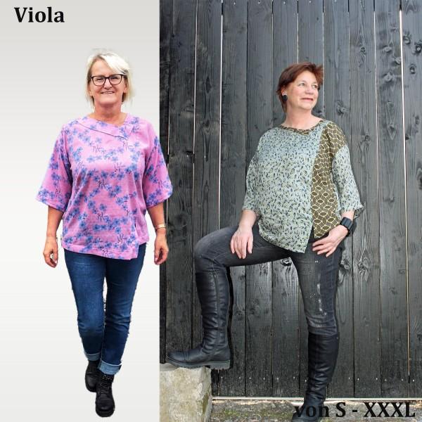 Viola Asymmetrisches Shirt mit kleinem Schlitz als eBook