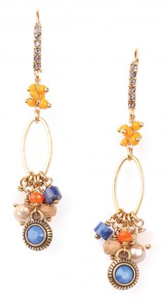 Filigrane Ohrringe mit Straßohrstücken von Franck Herval Bijoux