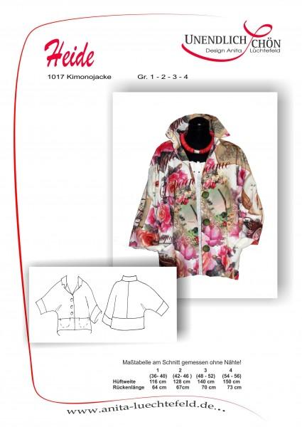 Kimonojackenschnitt in den Größen 1 - 4 als Papierschnitt