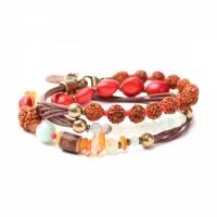 Lederarmband Armband oder Kette aus Halbedelsteinen