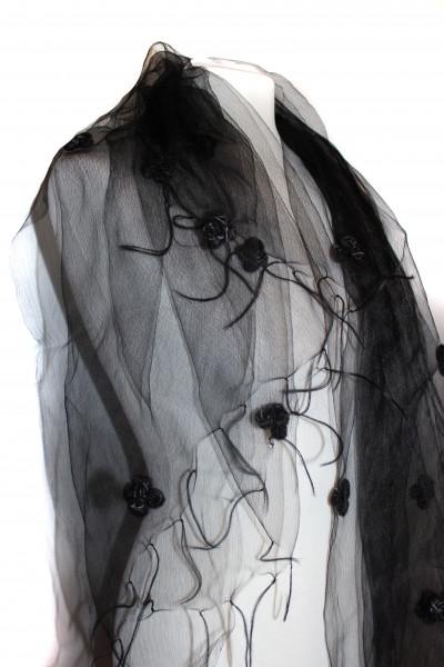 Schwarzer Organza Schal von Ahmaddy