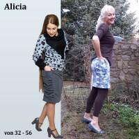 Alicia Rockschnitt mit großer Tasche als Papierschnitt