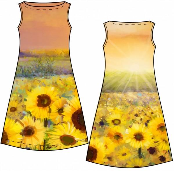 Stenzo Baumwoll Jersey Panel Sonnenblumenfeld