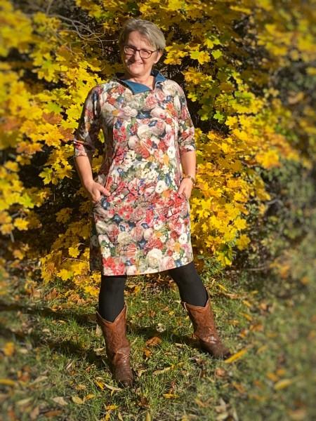 Kleider - Tunika Schnitt Soley in A-Form von 32 - 54 als Papierschnitt