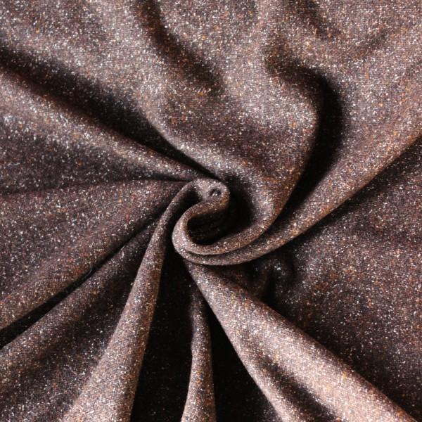 Brauner Wolltweed mit sprenkeln