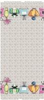Beiger Baumwoll-Jersey-Bordüre mit Parfümflaschen Motiv von Stenzo