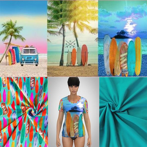Nähpaket Surfidylle mit oder ohne Basic Shirt Bellis Papierschnitt
