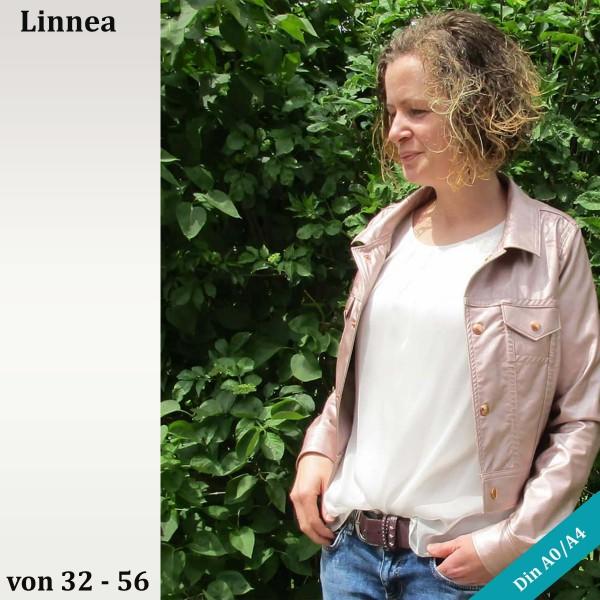 Jeansjacken Schnittmuster Linnea mit Kappnähten von als eBook