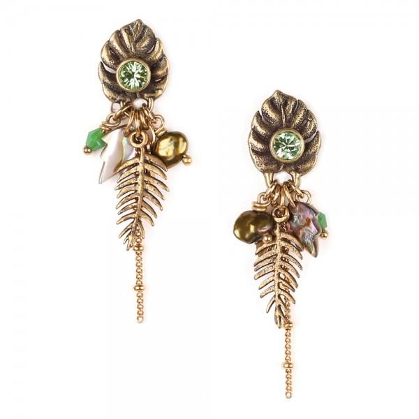 Ohrringe in Bronze Grün von Franck Herval