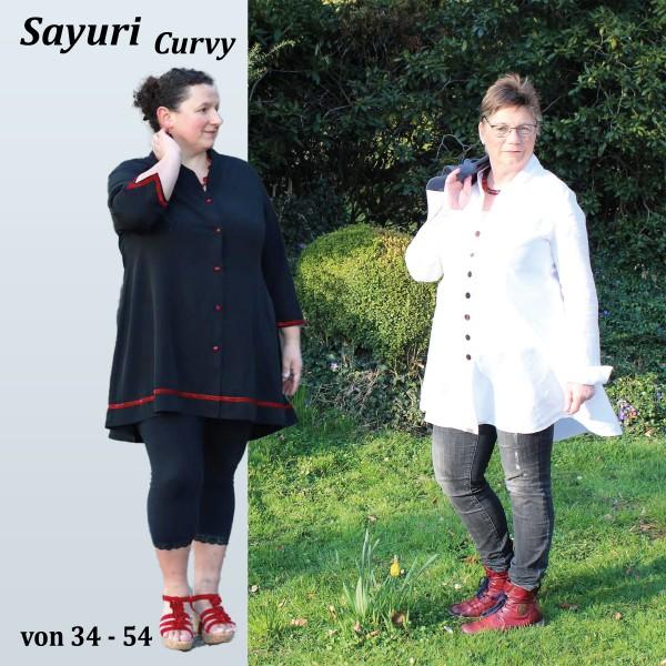 Longblusen Schnittmuster Sayuri Curvy mit Wiener Nähten