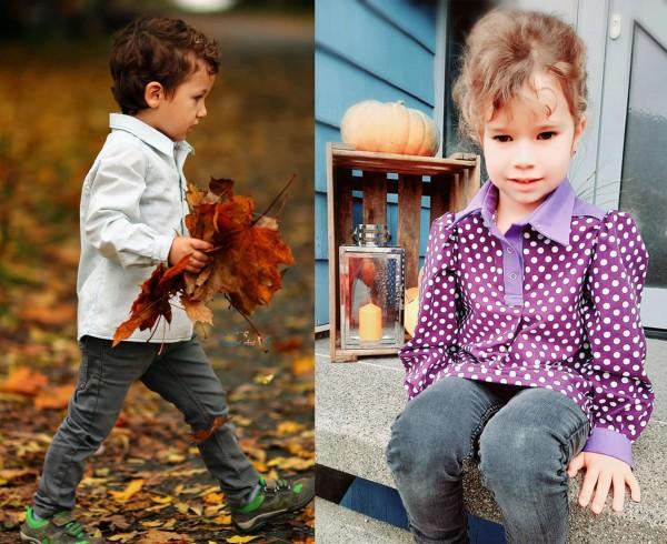 Kinder Blusen oder Hemdenschnittmuster ArianeMini von 92 - 134 als Papierschnitt