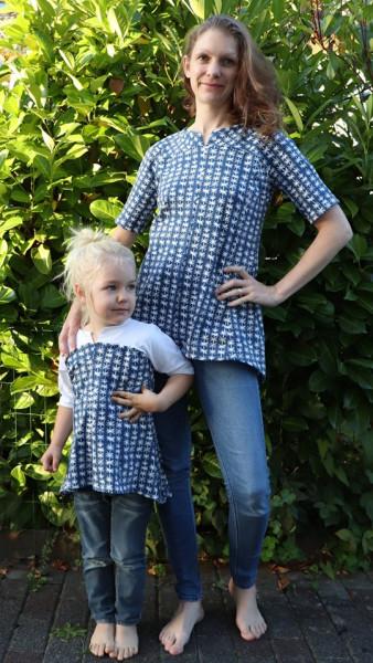 Kleider - Tunika Schnittmuster Ginger Mutter - Kind Kombi als Pappierschnitt