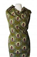 Baumwoll Jersey mit Ornamenten auf grünem Grund von Stenzo