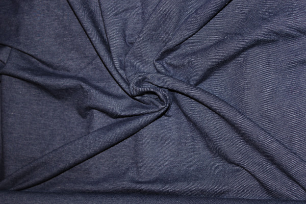 Jersey Stoff in Jeansoptik, denim blau