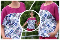 Lale asymmetrisches Kimono Shirtschnittmuster von 34 - 56 als eBook
