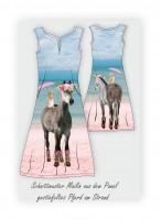 Stenzo Baumwoll Jersey Panel gestiefeltes Pferd am Strand
