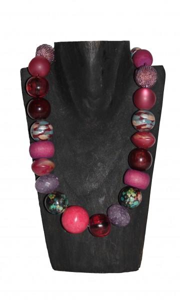 Halskette Sidona, massive, beerenfarbig gehaltene Kette von Langani