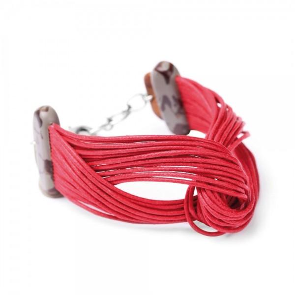 Rotes Armband aus aus der serie Concret Jungel von Nature bijoux