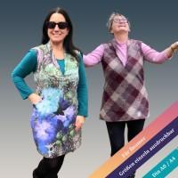 Ärmelloser Kleiderschnitt Oxalis mit angeschnittenem Schalkragen von 34 - 46 als eBook
