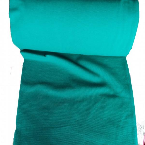 Bündchenware Baumwolle türkis/pertrol 35cm breit
