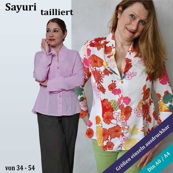 Sayuri tailliert Long oder Kurzbluse mit Wiener Nähten als eBook