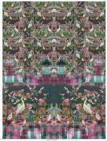 Stenzo Panel mit Reihern und Blumenranken