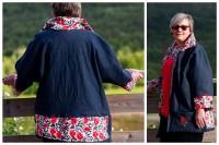 Oversize Kimonojacke Heide von XS - XXXL als Papierschnitt