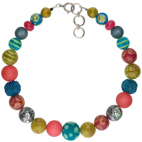 Halskette Bela, trendigfarbene Kette von Langani