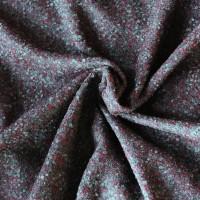 Boucle Stoff anthrazit - grau - bourdauxe Melange