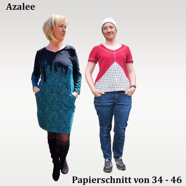 Ballonkleid- Tunika- Shirt- Cropped Schnittmuster Azalee mit großen Taschen als Papierschnitt