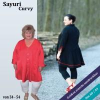 Sayuri Curvy Longblusen Schnittmuster mit Wienernähten als PDF