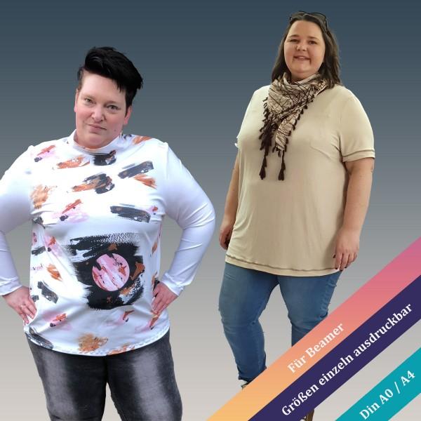 Bellis Curvy Basic T-Shirt Schnittmuster zum downloaden