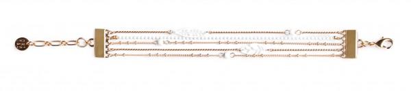 Filigranes vergoldetes Armband mit weißen Blättern von ORI TAO Bijoux