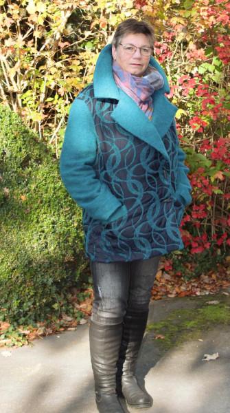 Winter Blazer Scilla Schnittmuster mit großem Revers von S - XXXL als Papierschnitt