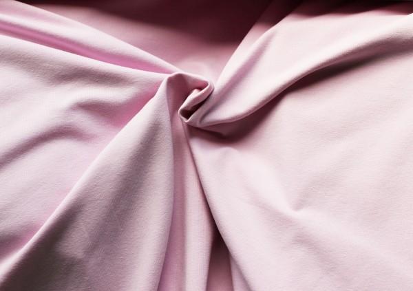 Stenzo Uni Baumwoll Jersey Stoff in rosa