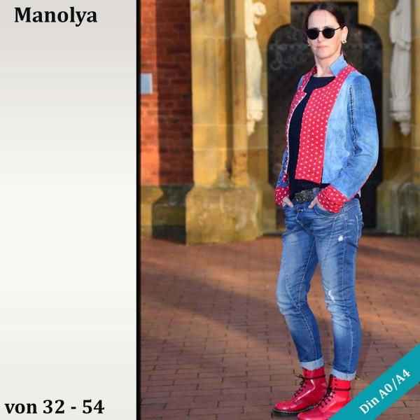 Kurzblazerschnitt Manolya in den Größen 32 -54 als eBook