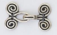 Ornament Haken und Ösen aus Metall 31 cm
