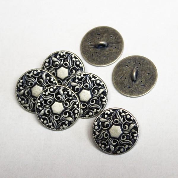 Metallknopf mit Reliefmuster 22 mm mit Öse