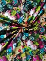 Stenzo Jersey Digitaldruck Blütenzauber mit Schmetterlingen und Papageien