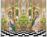 Stenzo Baumwoll Jersey Panel topisches Tiergartendesign