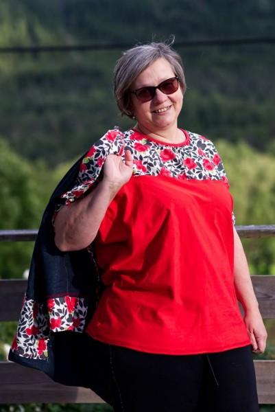 Lale ssymmetrisches Kimono Shirtschnittmuster von 34 - 56 als eBook