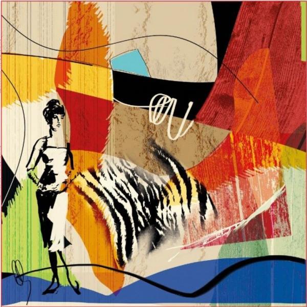 Stenzo Baumwoll Jersey Panel bunter Art Print im Afrika Look